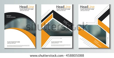 leaflet brochure flyer template a 4 size stock vector royalty free