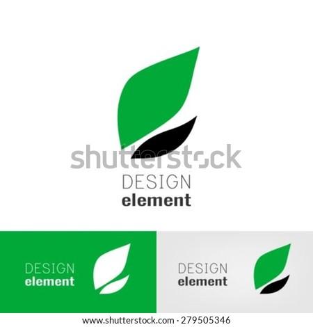Leafs logo design template - stock vector