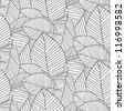 leafs pattern black - stock vector