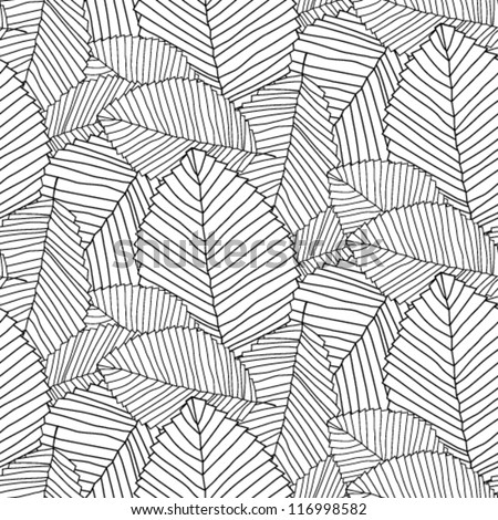 leafs pattern black
