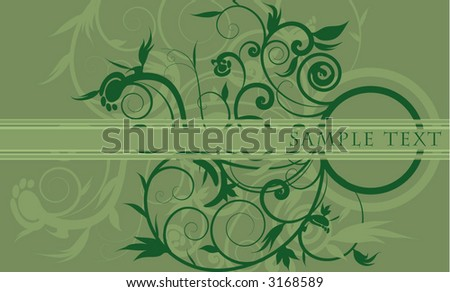 leafy floral design - stock vector
