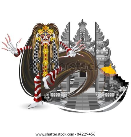 Leak Traditional Bali Dance - stock vector