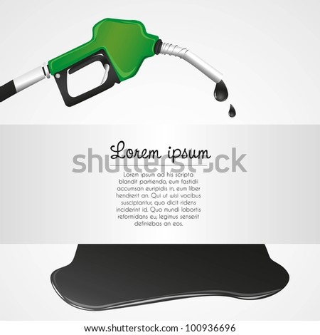leaking petroleum dispenser with space for text - stock vector