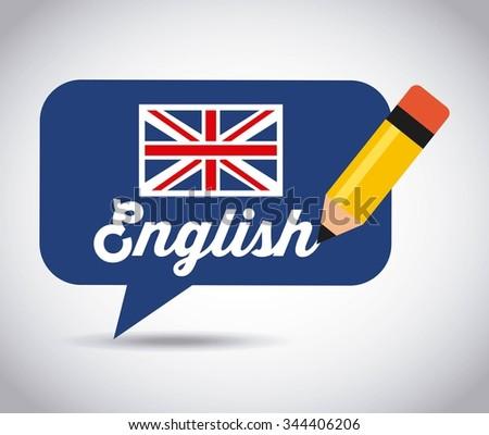 learn english design, vector illustration eps10 graphic  - stock vector