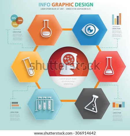 Learning and education concept info graphic design,vector - stock vector