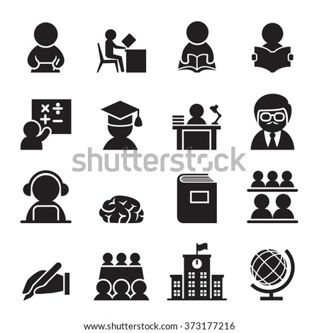 Learning icon - stock vector