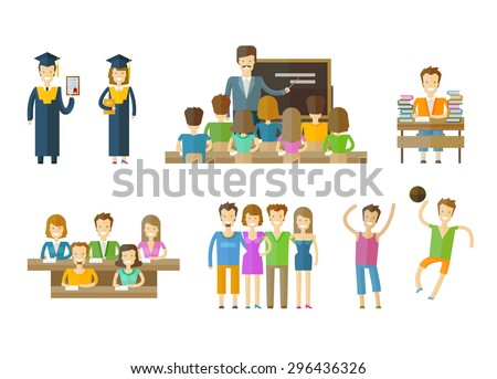 learning, tuition, schooling vector logo design template. school, seminary or education icons - stock vector