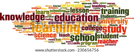 Learning word cloud concept. Vector illustration - stock vector