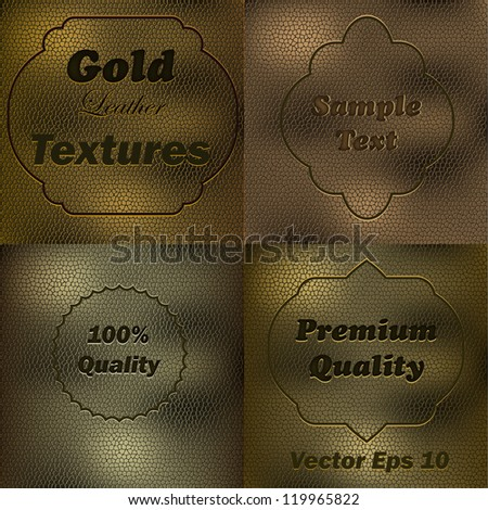 Leater Texture - stock vector