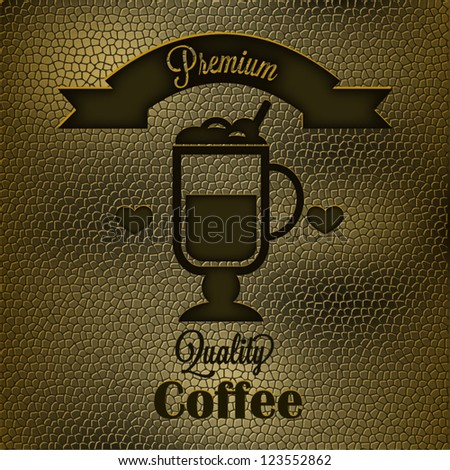Leather Background: Coffee time - stock vector
