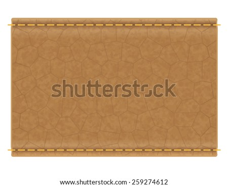 leather label for jeans vector illustration isolated on white background - stock vector