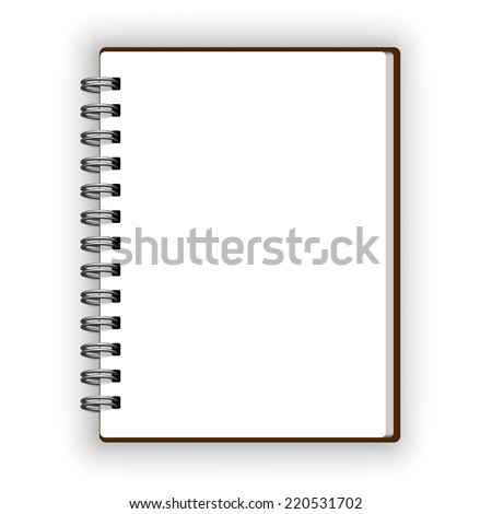 Leather spiral notebooks icon isolated on white