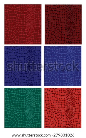 leather textures - stock vector