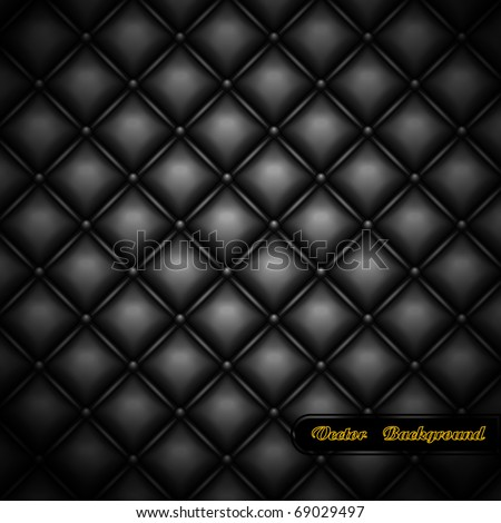 Leather upholstery. Vector illustration. - stock vector