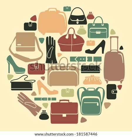 Leathers  Products  - stock vector