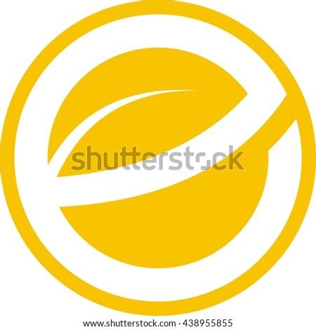 Leave letter e circle logo design stock vector 438955855 shutterstock leave letter e in circle logo design altavistaventures Images