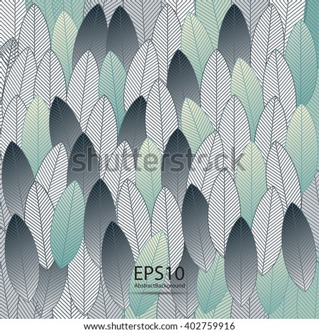 Leaves abstract background. Vector illustration.