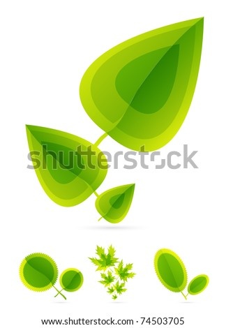 Leaves concept - stock vector