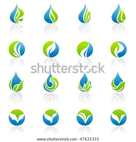 Leaves. Elements for design. - stock vector