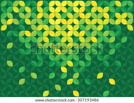 Leaves green abstract background - stock vector