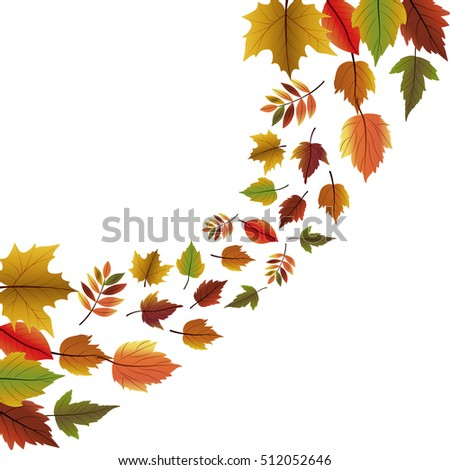 Leaves of autumn season design
