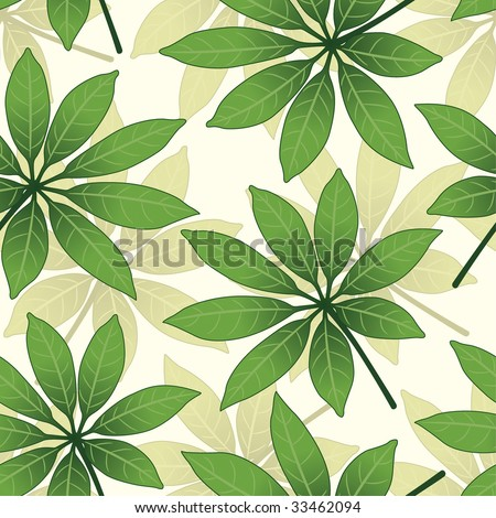 leaves pattern in floral style - stock vector