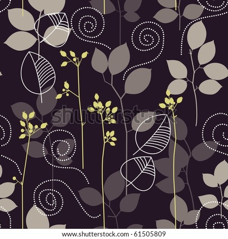 Leaves seamless background - stock vector