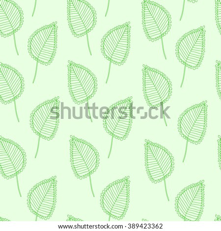 Leaves seamless pattern, hand draw
