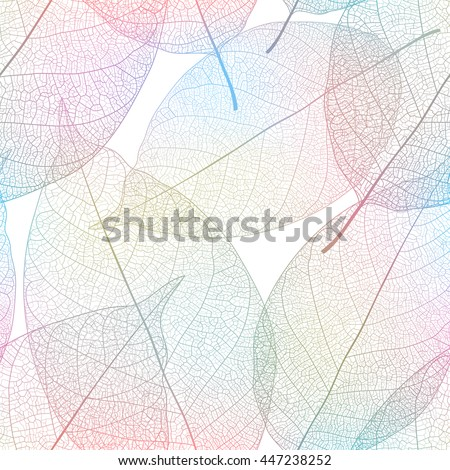 Leaves seamless pattern. Vector illustration.