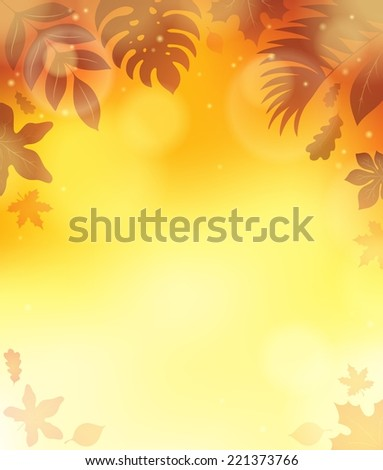 Leaves theme background 3 - eps10 vector illustration. - stock vector