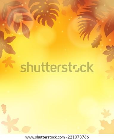Leaves theme background 3 - eps10 vector illustration. - stock vector