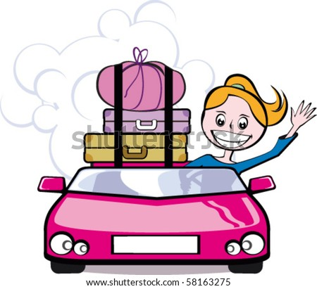 Leaving for Vacation - stock vector