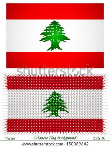 lebanese flag background - stock vector