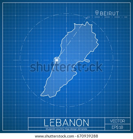 Lebanon blueprint map template capital city stock vector 2018 lebanon blueprint map template capital city stock vector 2018 670939288 shutterstock malvernweather Images