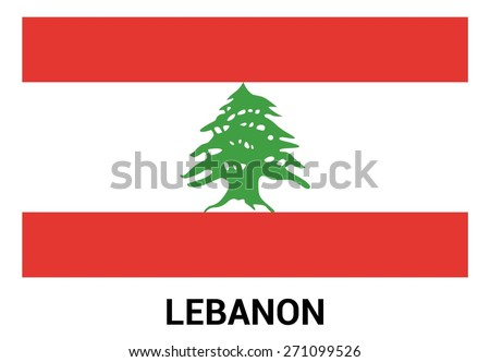 Lebanon Flag isolated vector in official colors and Proportion Correctly - stock vector