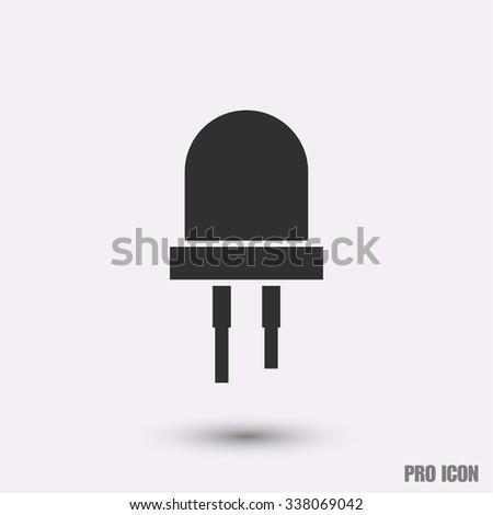LED bulbs icon vector - stock vector