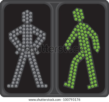 LED crosswalk signal