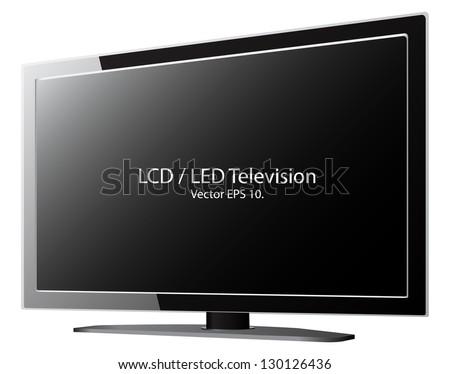 LED / LCD TV Vector Illustration, EPS 10. - stock vector