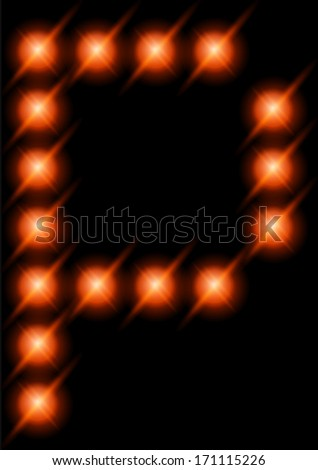 LED letters. - stock vector