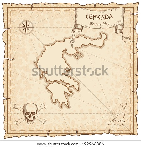 Pirate treasure map stock illustration 488764039 for Pirate scroll template