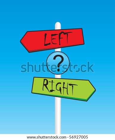 Left and right arrows - stock vector