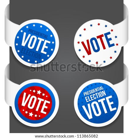 Left and right side signs - Vote. Vector illustration. - stock vector