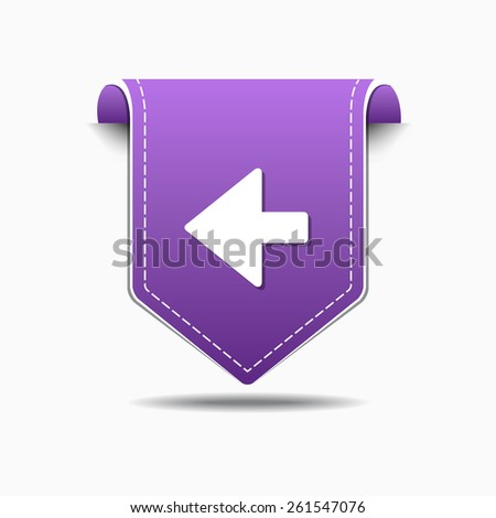 Left Arrow Purple Vector Icon Design