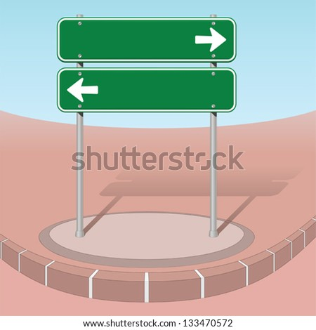 Left or right - stock vector