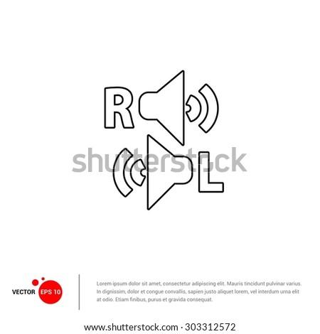 Left right Speaker icon - Vector Illustration - stock vector