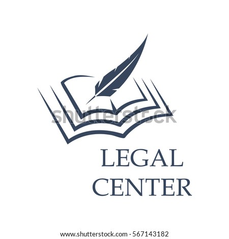 Legal Center Symbol Feather Writing On Stock Photo Photo Vector