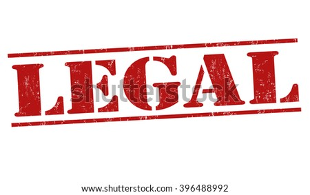 Legal grunge rubber stamp on white background, vector illustration