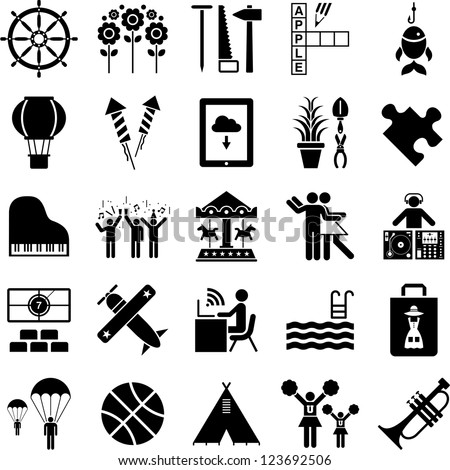 Leisure icons - stock vector