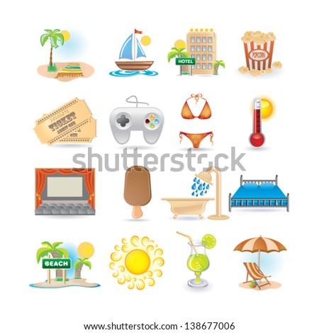 leisure set - stock vector