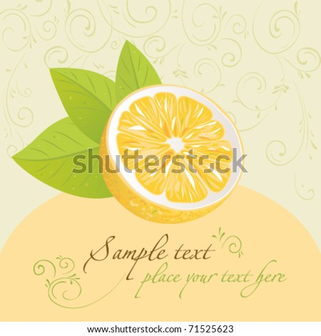 Lemon. Design template. For themes meal, the menu, holidays. Vector illustration